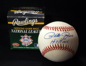 "Pete Rose ""Hit King"" Autographed Baseball"