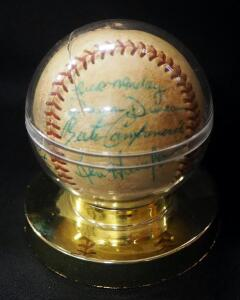 Kansas City Athletics 1966-1967 Team Autographed Baseball, 13 Period Signatures, In Holder