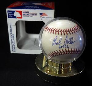 Bob Feller (HOF) Autographed Baseball, In Holder