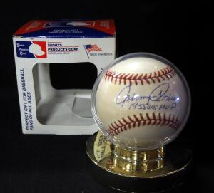 Johnny Podres 1955 World Series MVP Autographed Baseball, In Holder