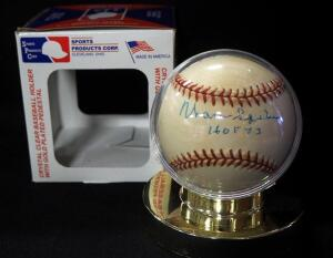 Warren Spahn (HOF) Autographed Baseball, In Holder