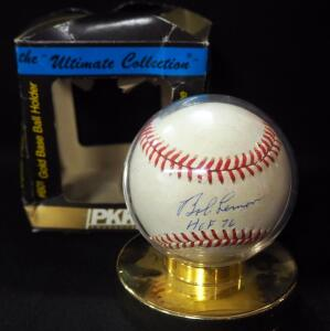 Bob Lemon (HOF) Autographed Baseball, In Holder