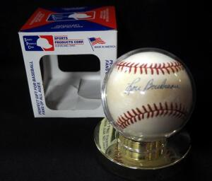 Lou Boudreau (HOF) Autographed Baseball, In Holder