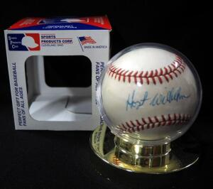 Hoyt Wilhelm (HOF) Autographed Baseball, In Holder