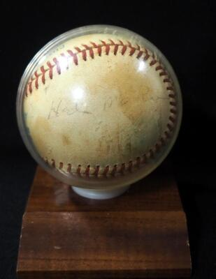 Hal McRae And Mickey Cobb (Trainer) Kansas City Royals Autographed Baseball