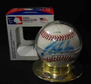 Bo Jackson Kansas City Royals Autographed Baseball, In Holder