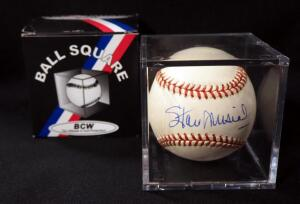 Stan Musial (HOF) Autographed Baseball, In Display Box