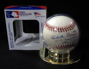 Clete Boyar World Series Champs 1961 Autographed Baseball, In Holder