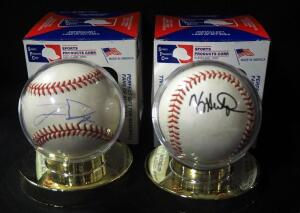 Jermaine Dye Autographed Baseball And Kevin Seitzer Autographed Baseball, Both In Holders