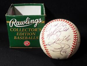Kansas City Royals Autographed Baseball With 6 Signatures, See Description For Names