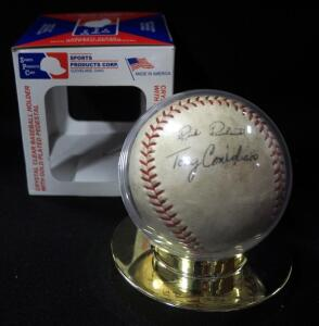 Stamped Autograph Baseball With 8 Signatures, Names Include Mickey Mantle, Brooks Robinson, Tony Congigliaro, Willie Stargell, Jim Lefebvre, And More