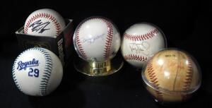 Five Autographed Baseballs, Player Names Undeciphered