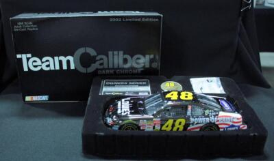 Team Caliber Dark Chrome Action Jimmie Johnson #48 2002 Limited Edition 1:24 Diecast Car With COA, New In Box