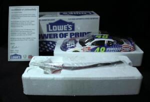 Racing Champions 2002 Jimmie Johnson #48 Lowe's Employee-Owner Exclusive 1:24 Diecast #03591, With COA, New In Box