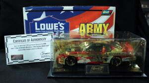 Revell Mike Skinner #31 Lowe's Army 1:24 Diecast Car With Display Box And COA, 1 Of 3120, New In Box