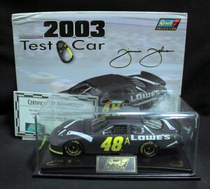 Revell Jimmie Johnson #48A 2003 Test Car 1:24 Limited Edition Diecast Car With Display Box, COA, And Stopwatch, New In Box