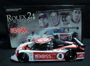 Jimmy Johnson/David Brule/Elliot Forbes-Robinson/Butch Leitzinger #4 Boss Snow Plows Rolex 24 Hour Prototype 1:18 Diecast Car, New In Box