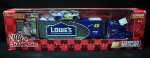 Racing Champions 2002 Jimmie Johnson #48 Lowe's 1:64 Transporter And Diecast Car, New In Box