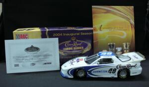 Action Jimmie Johnson #48 Crown Royal IROC Series 2004 Inaugural Season 1:24 Diecast Car With COA, New In Box, And Crown Royal DVD