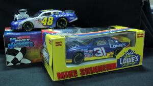 Action Mike Skinner #31 Lowe's 1:24 Diecast Car And Muscle Machines Jimmie Johnson #48 Lowe's 1:24 Diecast Car, Both New In Boxes