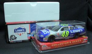 Action And Racing Champions Jimmie Johnson #48 Lowe's 1:24 Diecast Cars, Includes Memorial Day 2009 Impala And 2003 Preview, Both NIB