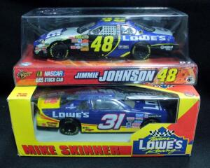 Mike Skinner #31 Lowe's And Jimmie Johnson #48 Lowe's 1:24 Diecast Cars, Both New In Boxes
