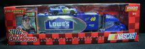 Racing Champions Jimmie Johnson #48 Lowe's Collectors Series 1:64 Transporter And Diecast Car, New In Box