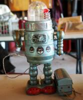 Vintage 1950 Alps Door Robot With Remote - 2