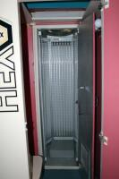"Hex Level 4 Stand Up Tanning Booth Model 48N5, Includes Dressing Room With T-MAX Timer, Bulbs Replaced In December 2019, Bidder Responsible For Proper Removal, Hardwired To Electrical System, Booth Measures 84"" x 36"" x 36"", Dressing Room Measures 84"" x 43 - 3"