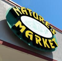 Exterior Nature's Market Electric LED Sign, Approx 5' Tall x 6' Wide, Bidder Responsible For Proper Removal, Mounted To Building Exterior And Wired To Electrical System - 2