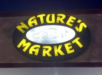 Exterior Nature's Market Electric LED Sign, Approx 5' Tall x 6' Wide, Bidder Responsible For Proper Removal, Mounted To Building Exterior And Wired To Electrical System - 3