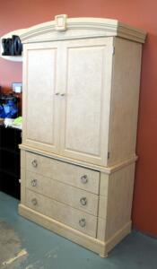 "3 Drawer Armoire With Nickel Finish Hardware, 82.25"" x 44.5"" x 21.5"", Contents Not Included"