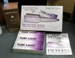 Pravana The Blonde Wand With Pure Light Creme Lightener With Original Box And Paperwork, And Pravana Keratin Fusion Texture Control