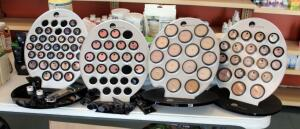 GloMinerals Makeup Assortment Including Concealer, Shadow, Foundation, Brushes, Palettes, Blush, And More, Large Quantity Of New Stock