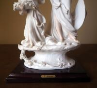 "Giuseppe Armani ""Lady And Child With Flowers"" Cold Cast Porcelain Figurine # 1124-F, 14.5"" x 8"", In Box - 3"