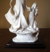"Giuseppe Armani ""Lady And Child With Flowers"" Cold Cast Porcelain Figurine # 1124-F, 14.5"" x 8"", In Box - 6"