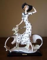 "Giuseppe Armani ""Spring"" (Girl With Bicycle) Cold Cast Porcelain Figurine # 0539-C, 15"" x 12"", In Box"