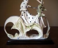 "Giuseppe Armani ""Spring"" (Girl With Bicycle) Cold Cast Porcelain Figurine # 0539-C, 15"" x 12"", In Box - 6"