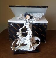 "Giuseppe Armani ""Spring"" (Girl With Bicycle) Cold Cast Porcelain Figurine # 0539-C, 15"" x 12"", In Box - 11"