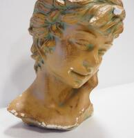 "Bust Of Young Adult, Approx 13"" High, Some Chips And Wear - 2"