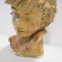 "Bust Of Young Adult, Approx 13"" High, Some Chips And Wear - 3"