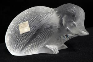 "Lalique Crystal Mole, Signed On Bottom, 3"" High"