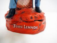 "Musical John Lennon Ceramic Decanter By Gary Schildt, 16"" High, Plays ""I Want To Hold Your Hand"" - 3"