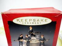 Hallmark Keepsake Ornaments Beatles Gift Set, Includes 5 Ornaments Plus Microphones And Stage, In Box, Commemorates Beatles US Debut 30th Anniversary - 3