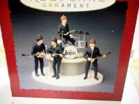 Hallmark Keepsake Ornaments Beatles Gift Set, Includes 5 Ornaments Plus Microphones And Stage, In Box, Commemorates Beatles US Debut 30th Anniversary - 4