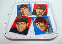 Beatles 5-Part Nesting Doll Set, Includes All 4 Beatles Members And A Beetle, And A Metal Repro Beatles Serving Tray - 2