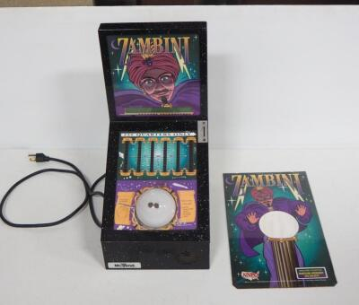 Zambini Palm Reader Fortune Teller Arcade Game By Mr. Vend, Powers On And Works!, SEE VIDEO