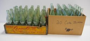 Coca-Cola Bottle Collection, Includes 1 Pint And 10 oz Bottles, Approx Qty 44, Some In Wood Coca-Cola Bottle Tray