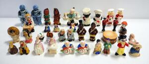 Salt And Pepper Shaker Collection Of People From Different Cultures, Professions And Eras