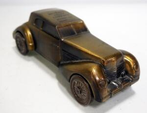 Banthrico Brass 1936 Cord Advertising Bank